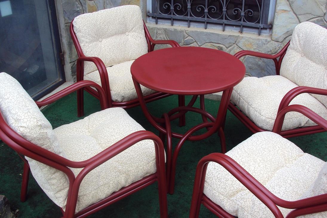 Metalne fotelje (4+1)
