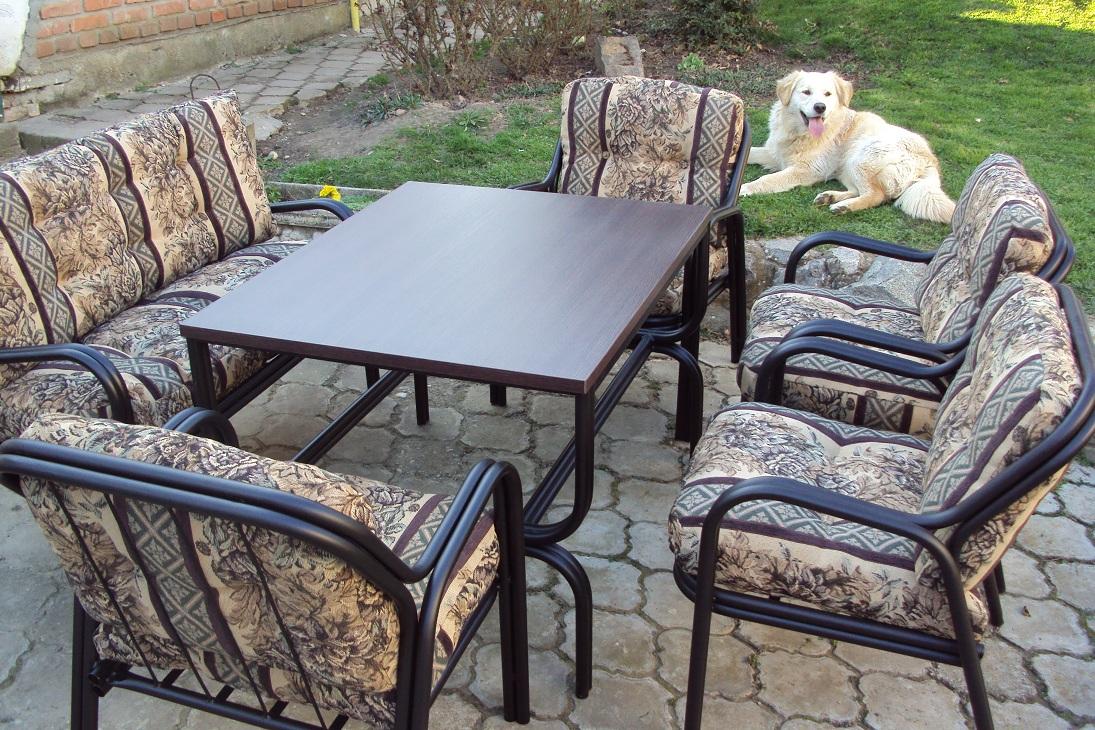 Metalne fotelje (6+1)